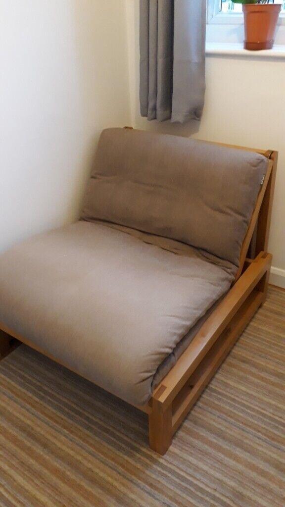 cheap for discount e1624 ac868 Solid wood single Futon (genuine futon company)   in Exeter, Devon   Gumtree