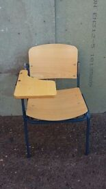 Wooden Conference Chairs with Writing Tablet