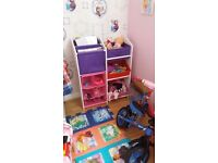 multifunction kids storage unit and blackboard