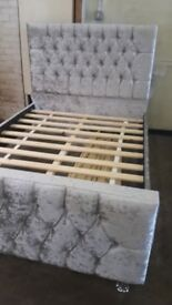 Brand new Beautiful velvet double bed frame. £170 ono