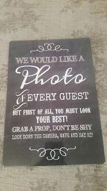 Wedding Signs & Blackboards - Perfect for rustic weddings!