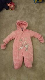 Pink minnie mouse snow suit