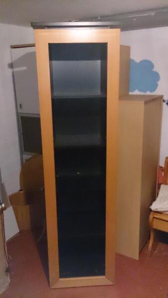 b cherschrank regal b cherregal plattenschrank in kreis pinneberg uetersen wohnwand. Black Bedroom Furniture Sets. Home Design Ideas