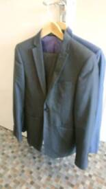 2 suits navy blue and dark grey