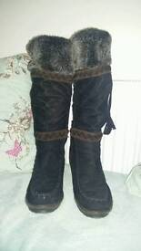 Fur-lined suede leather boots (5)