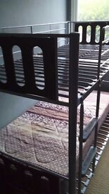 Metal framed bunk bed in good condition