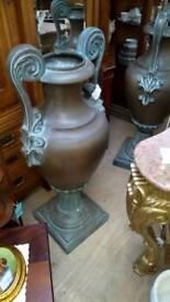 2 x Large vintage Urns
