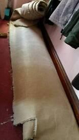 Large cream carpet