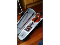 Violin - 1/2 size, suitable for child. With bow and hard case.