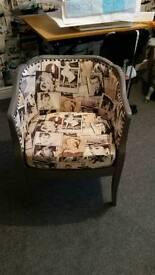 Lovely one of easy chair freshly upholster