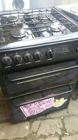 HOTPOINT GAS COOKER WITH DOUBLE OVENS EX CATALOGUE AS NEW CONDITION