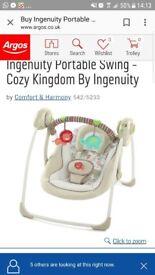 Brand new in box unopened ingenuity portable baby swing