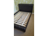 Faux Leather effect Double Bedframe