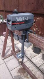 YAMAHA MARINER 2HP 2 STROKE OUTBOARD FOR DINGHY TENDER RIB SIB BOAT