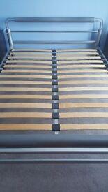REDUCED!! King size metal bed frame
