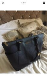 Michael Kors Saffiano Leather black handbag