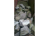 Large selection of rockery stones, free to a good home, will need a van and a strong pair of arms!