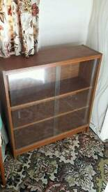 Sliding glass display cabinet