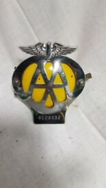 AA metal membership badge