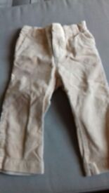 Baby Gap brushed corduroy trousers age 18 - 24 months