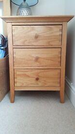 2 Triple Bedside Chest of Drawers & (Optional) Solid Oak Wardrobe