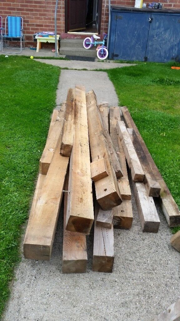 """5""""x4"""" timber between 6 and 7ft long"""