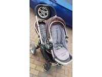 iCandy Peach 2 Blossom Black Magic Double Twin Pushchair Stroller Great Conditon