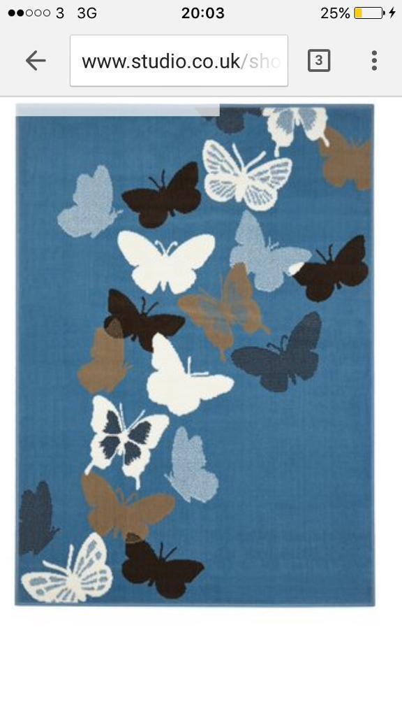 Brand new teal rug 120x170