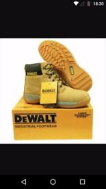 Dewalt size 5 safety boots steel toe cap tan colour brand new never used