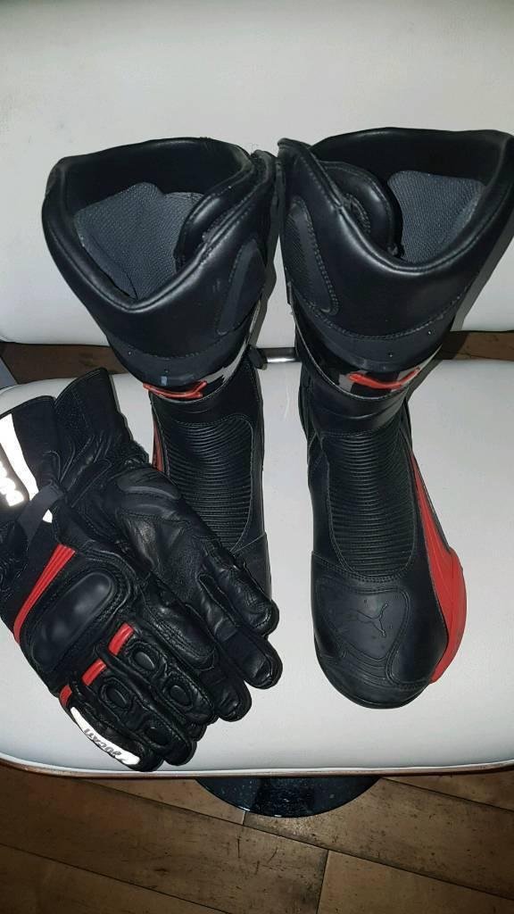 746551887032 PUMA Motorcycle Boots + Revit Gloves (Ducati)