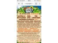 Kendal calling 2018 2 x adult, 1 x teen and 1 x child