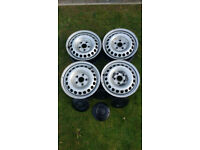 Volkswagen (VW) Transporter T5 Steels (Wheels/Rims) with 4 centre caps & 4 bolts