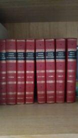 Set of 8 vintage Newnes encyclopedia books . read reading book