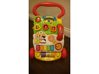 VTech First Steps Baby Walker Learning Activity Light Up Musical Toy Used