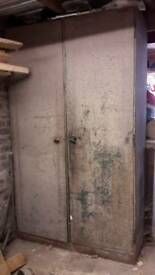 Two 1950's metal cabinets manufactured in the UK by Roneo Ltd