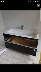 100 cm Sink no unit
