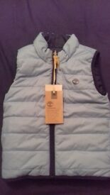 Childs Hugo boss jumper and timberland reversible body warmer brand new with tags