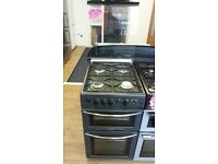 BELLING 50CM ALL GAS COOKER IN BLCK WITH LID