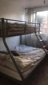 Double/single bed frame