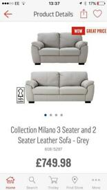 Leather Milano suite 3 + 2 seater