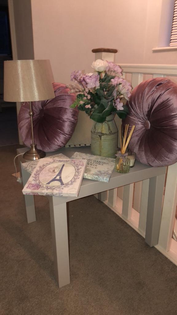 Purple/Grey Bedroom Accessories & Table