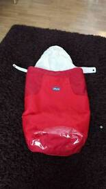 Chicco footmuff built in hood Stroller buggy cosy toes
