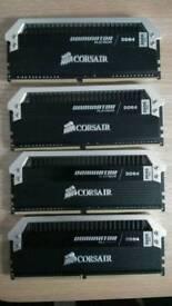 8GB 2*4GB 3000MHz DDR4 Corsair Dominator Platinum ram