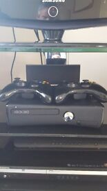 XBOX 360 & 2 Xbox controllers.