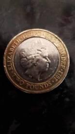 Very rare 2 pound coin