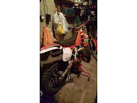 honnda cr125 motocross bike