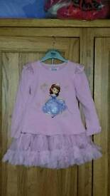 Girls Disney Sofia jumper and skirt - new 2-3 years