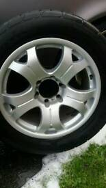 Alloy wheels and tyres