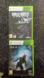 2 x xbox 360 games Call of duty and Halo 4