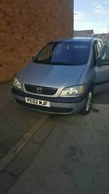 Vauxhall zafira 1.6 02